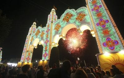 A SPECTACULAR SHOW-STOPPING FIREWORKS DISPLAY MARKED THE OPENING OF THE SAN PEDRO FERIA